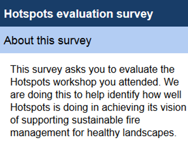 Evaluating the Hotspots Program